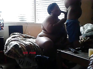 Live Cams  Black BBW gets dicked hard in his room