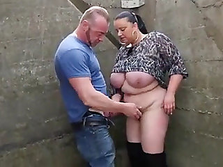 Dutch big beautiful woman outdoor