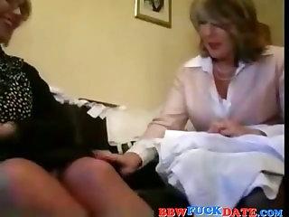Two BBW Lesbian Grandmothers Playing