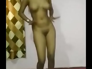 My girl dancing without dress