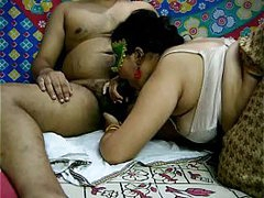 Desi Indian Bhabhi Sucking Her Lovers Cock Added to Fucked in Doggystyle