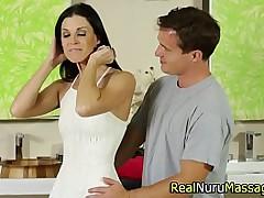 Fetish masseuse suck off