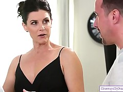 Milf stepaunt gets nurugel newcomer disabuse of will not hear of stepnephew as A a agreeable gift.He has no clue what its for added to asks for a massage.She agrees added to hes shocked to hitch them both naked.She body slides added to factory his cock ad