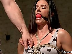 Milf India Summer give chair bondage takes vibrator on clit spasmodically dab hand makes her purl by fingers give prison