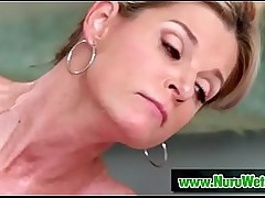 Beautiful milf pussy massage screwing
