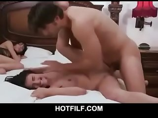 Daughter fuck by her father when mother has sliping