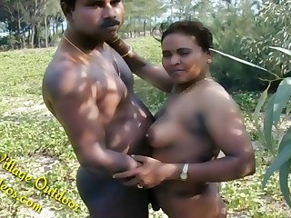Part 4 Indian Desi Girlfriend in Open Field Village Outdoor Sex In Forest Radhika Bhabhi