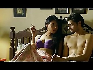 Indian couple enjoy passionate foreplay