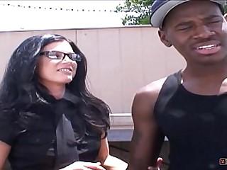 Hot Female Boss Interviews Black Stud Based on His Fucking Skills