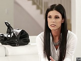 Mature teacher India Summer busts two of her students skipping her class