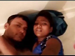 Desi couple in hotel room with gujju girl