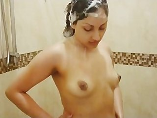 Desi bhabhi fucked by Devar in shower and gets face full of cum