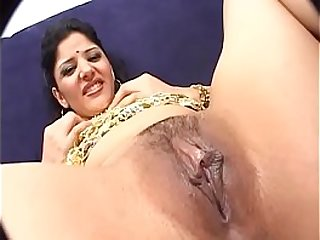 Pretty indian chick with great ass drilled by huge dick  on couch