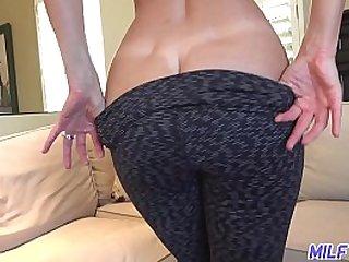 Busty blonde fucks big dick in her kitchen